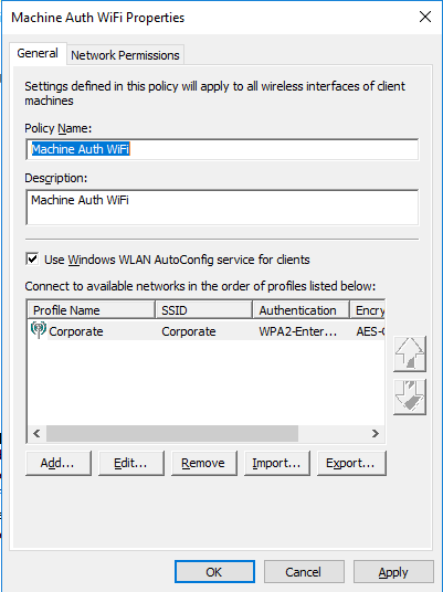Wireless 802 1x for Machine Auth only using NPS – Hospitable IT